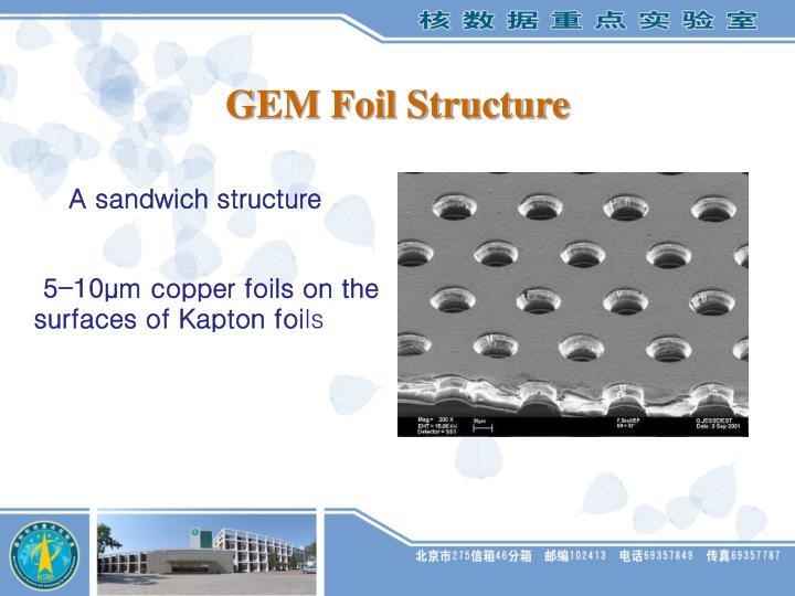 GEM Foil Structure