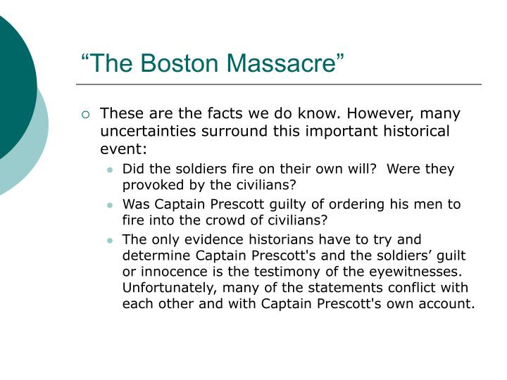 What were the moral and immoral issues of the Boston Massacre?