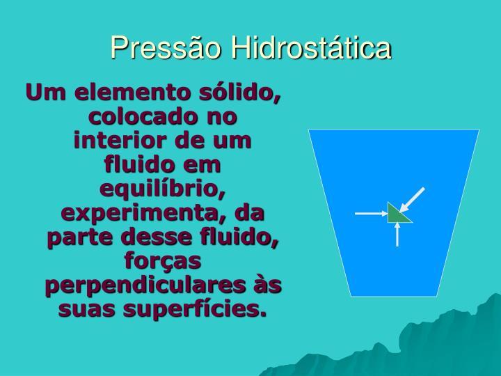 Pressão Hidrostática