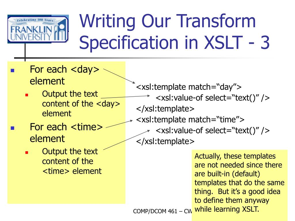 PPT - Week 12 – XML Part II PowerPoint Presentation - ID:4563296