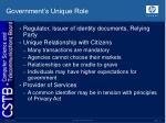 government s unique role