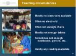 teaching circumstances