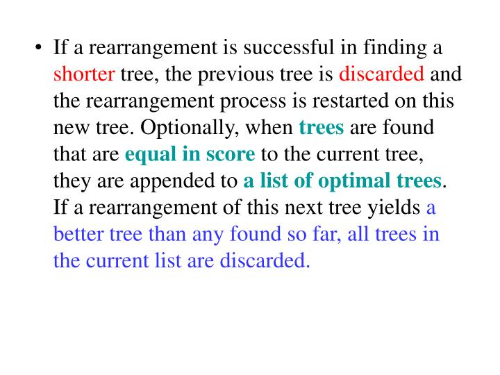 If a rearrangement is successful in finding a