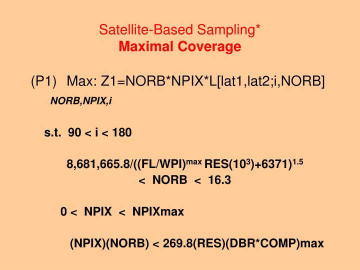 Satellite-Based Sampling*