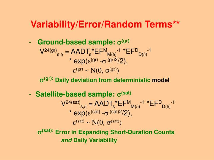 Variability/Error/Random Terms**