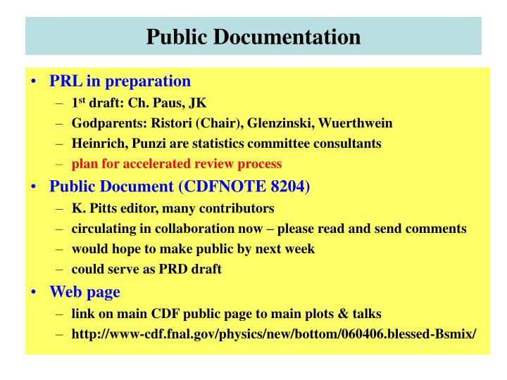 Public Documentation