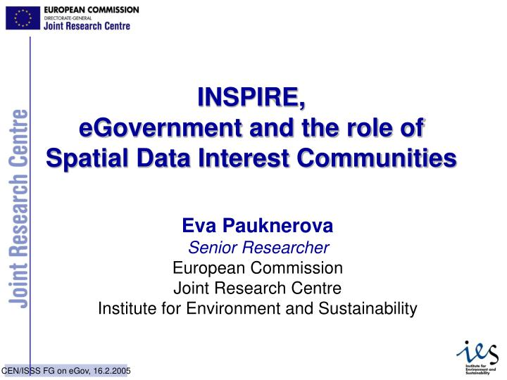 Inspire egovernment and the role of spatial data interest communities