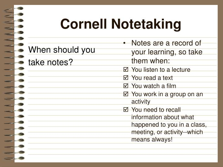 Cornell notetaking2