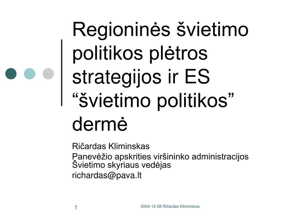 universiteto internacionalizavimo strategija ppt
