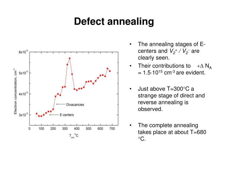 Defect annealing
