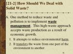 21 2 how should we deal with solid waste
