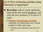 21 3 why is reusing and recycling materials so important1