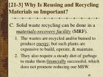 21 3 why is reusing and recycling materials so important2