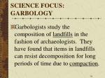 science focus garbology