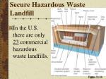 secure hazardous waste landfill