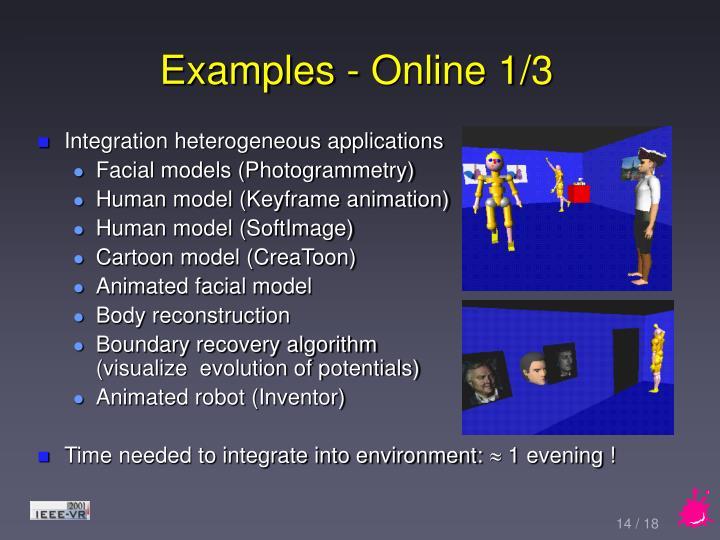 Examples - Online 1/3