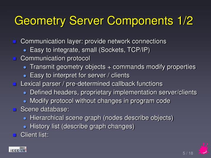 Geometry Server Components 1/2