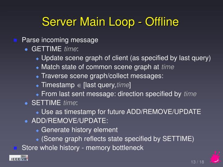 Server Main Loop - Offline