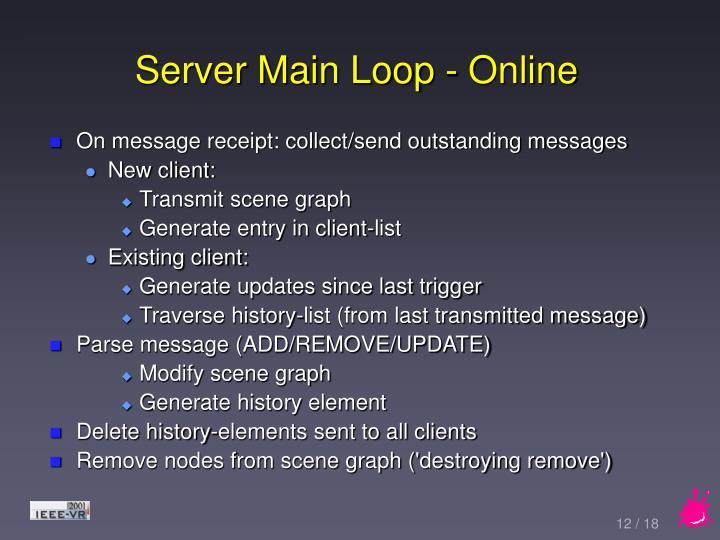 Server Main Loop - Online