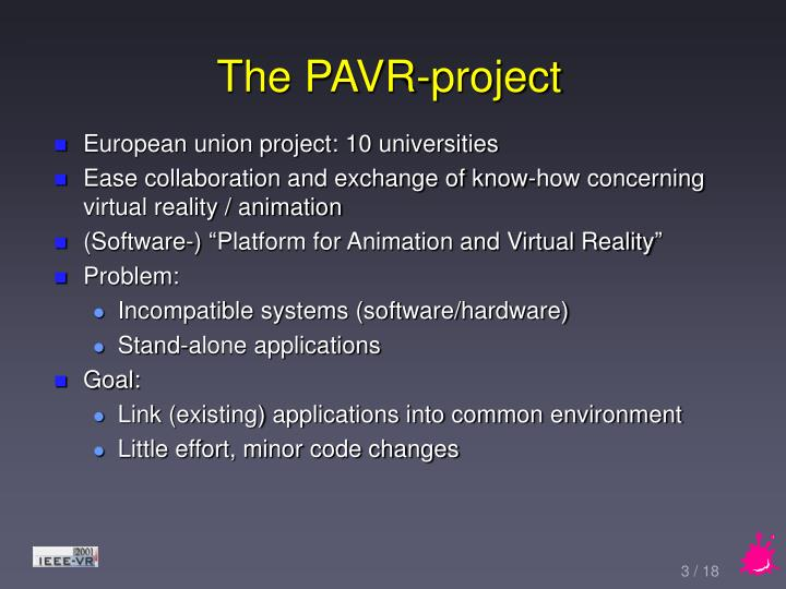 The pavr project