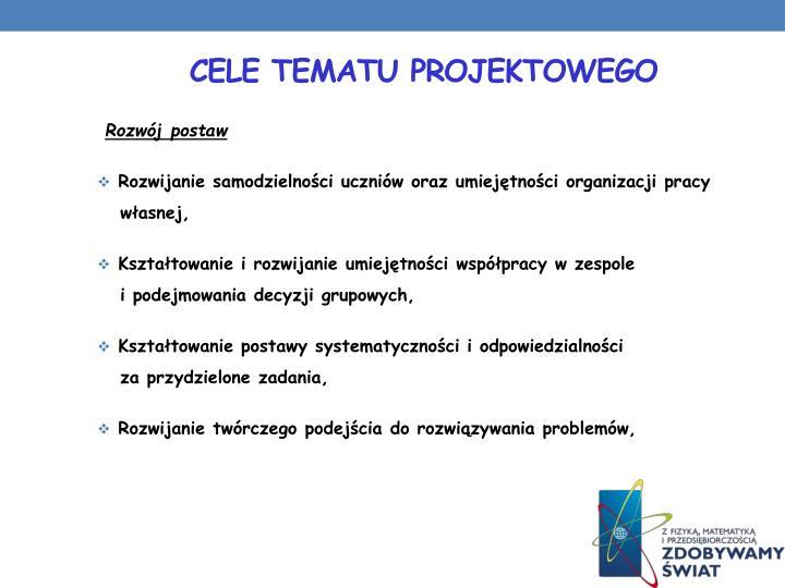 Cele tematu projektowego