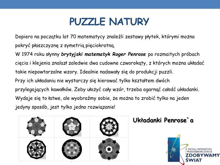 Puzzle natury