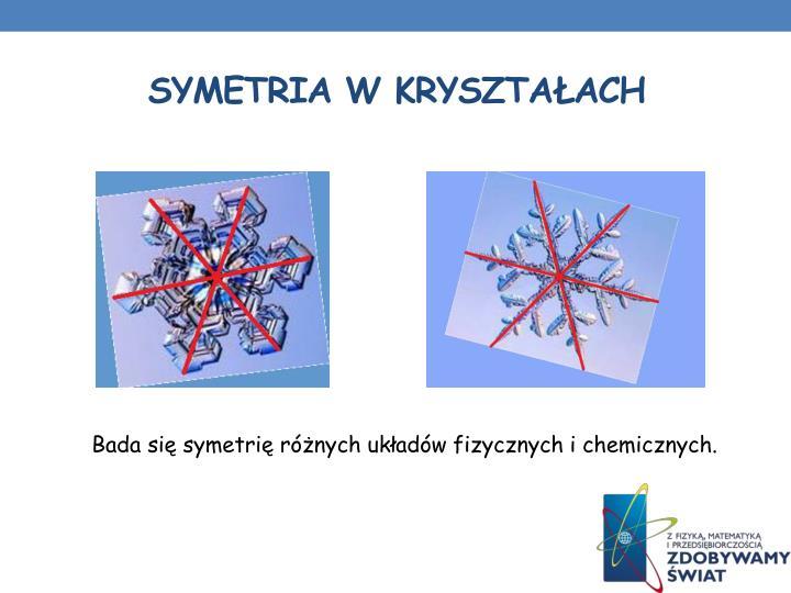 Symetria w kryształach