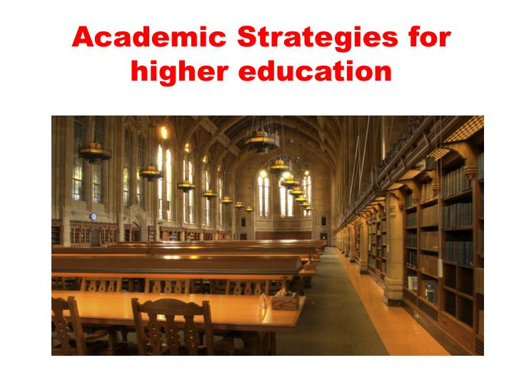 academic strategies 2 27 2 ponder how the innovators in how we got to now exemplify the various characters in the allegory of the cave academic strategies assignment 1 academic strategies video lecture: students will watch a brief video teaching effective strategies for.