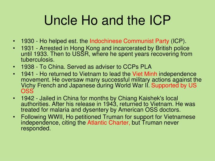 Uncle Ho and the ICP