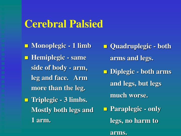 Monoplegic - 1 limb