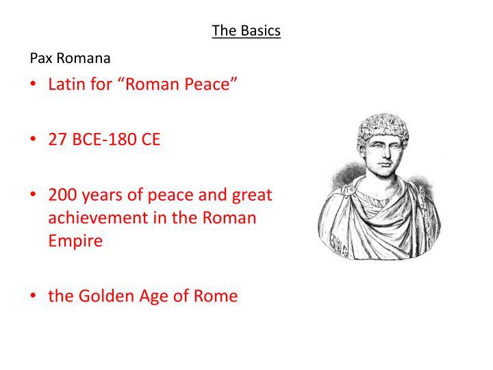 pax romana achievements