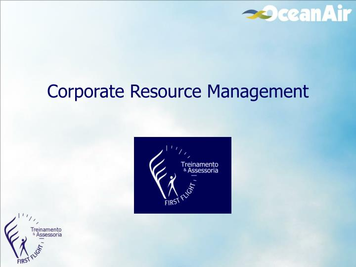 corporate resource management n.