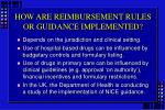 how are reimbursement rules or guidance implemented