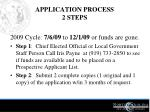 application process 2 steps