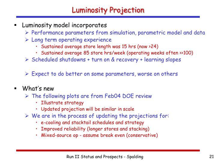 Luminosity Projection