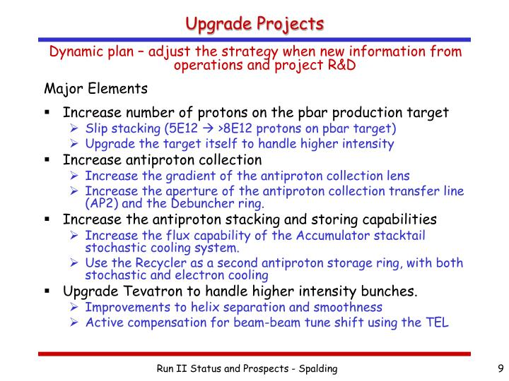 Upgrade Projects