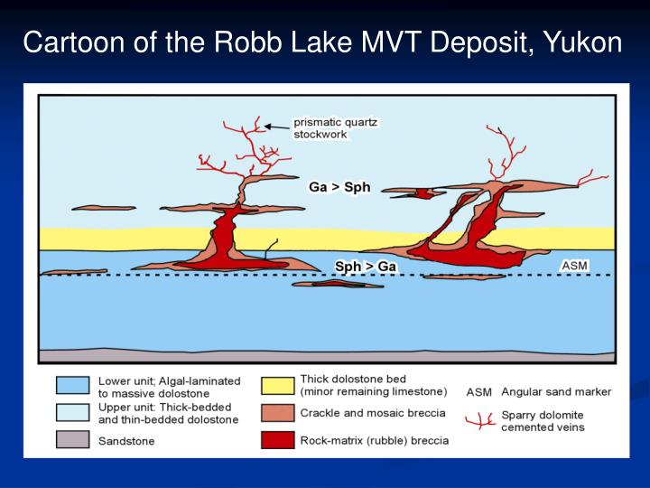 Cartoon of the Robb Lake MVT Deposit, Yukon