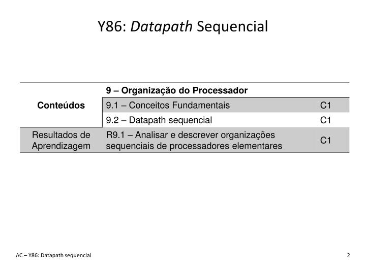 Y86 datapath sequencial1