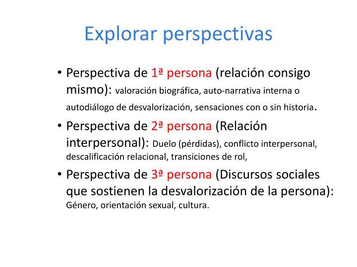 Explorar perspectivas