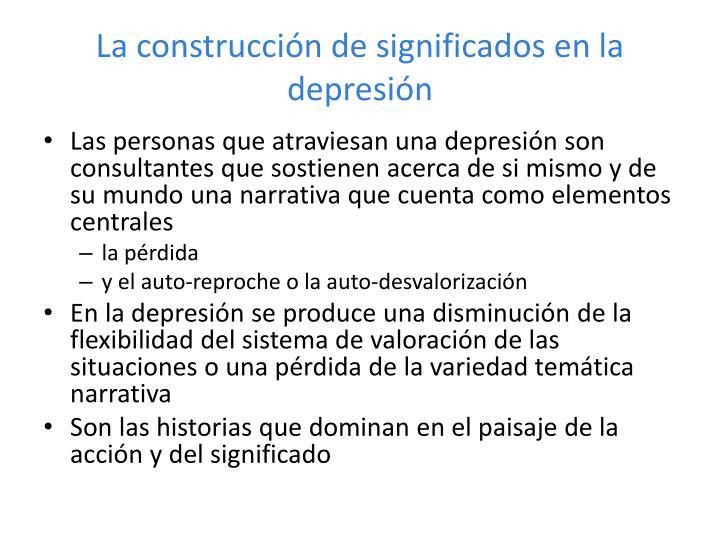 La construcción de significados en la depresión
