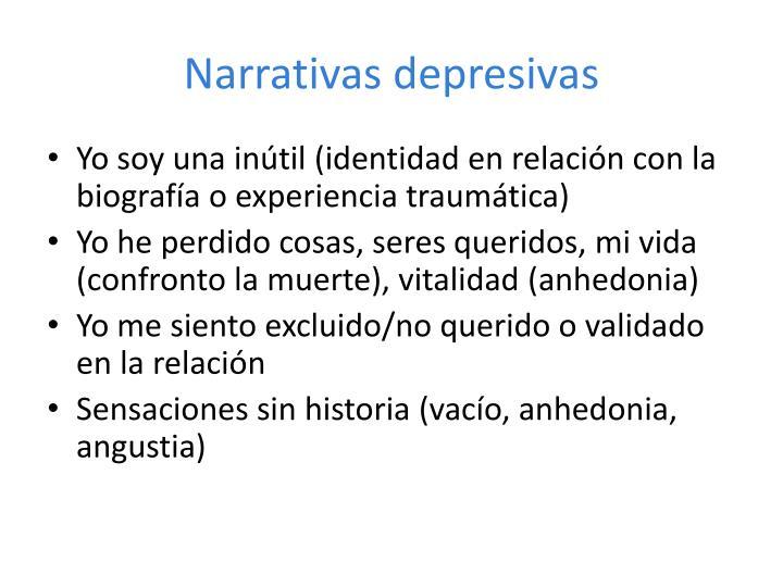 Narrativas depresivas