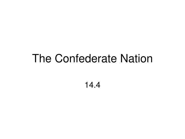 the confederate nation n.