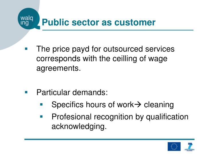 Public sector as customer