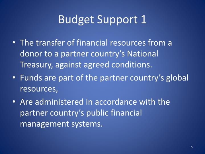Budget Support 1