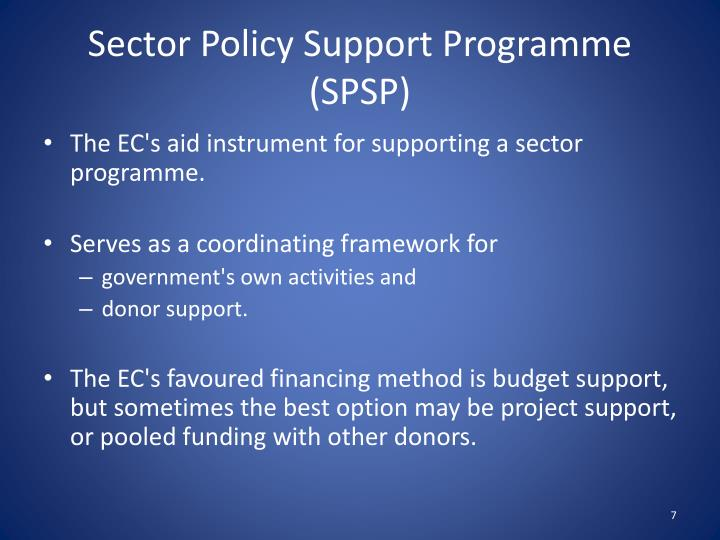 Sector Policy Support Programme