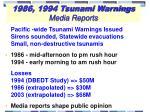 1986 1994 tsunami warnings media reports
