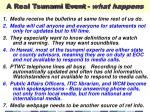 a real tsunami event what happens