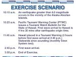 exercise scenario