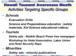 hawaii tsunami awareness month activities targeting specific groups