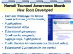 hawaii tsunami awareness month new tools developed